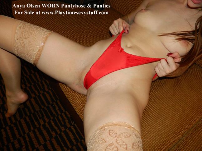 red satin panties video