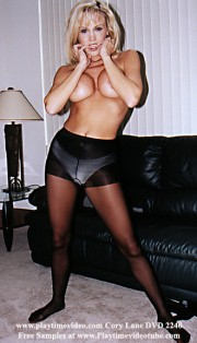 Cory Lane Pantyhose Tease with Some Jerk Off Encouragement DVD 2240