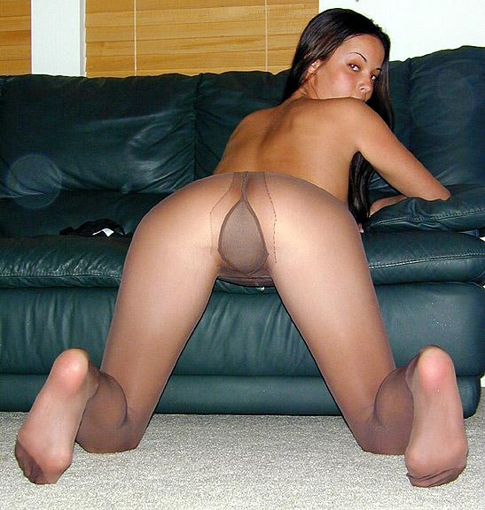 Pantyhose crotch close up