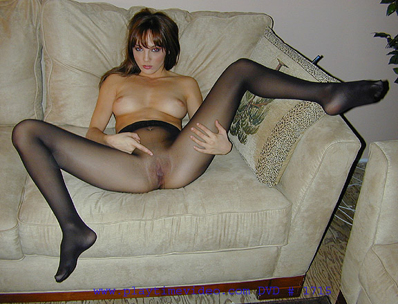 Jerk off inside pantyhose