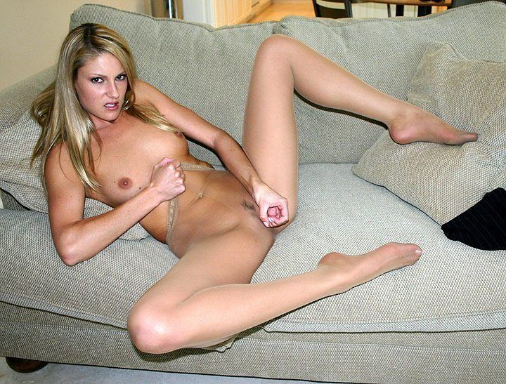 Pantyhose jerkoff instruction vids