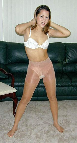 Amateur pantyhose video
