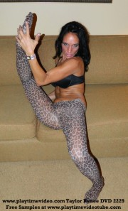 Taylor Renee Jerk Off Encouragement Pantyhose/Bodystocking #5 DVD 2229!