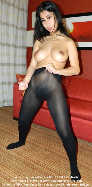 Jade Kush Pantyhose, Panties, Leggings, Leotards, Spandex & Swimsuit Jerk Off Encouragement DVD 2280